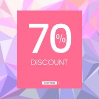 70 percent discount sale vector