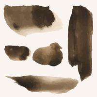 Conjunto de vector de mancha de salpicaduras de café