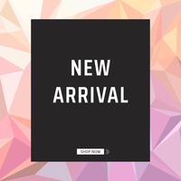 New arrival product announcement poster vector