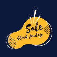 Vettore del distintivo di Black Friday SALE