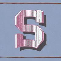 Stile di tipografia vintage lettera maiuscola S