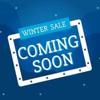 Winterverkauf, der bald Vektor kommt