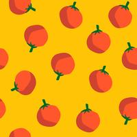 Oranges on yellow seamless pattern background vector