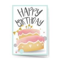 Gelukkige verjaardagskaart ontwerp vector
