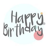 Grattis på födelsedagen typografi design vektor