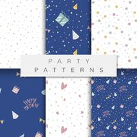 Set di vettori di pattern party
