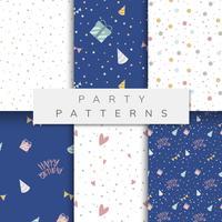 Set di vettori di pattern party
