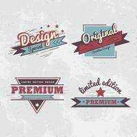 Premium quality badge vector set
