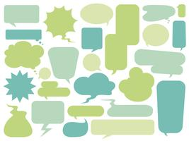 Collection of colorful speech bubbles vector