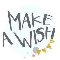 Make a wish typography vector