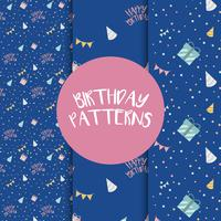 Set of birthday pattern vectors