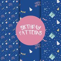 Set von Geburtstag Muster Vektoren