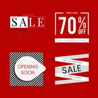 Set of sale promotion design template