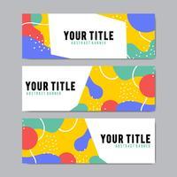 Modèles de conception de bannière colorée et abstraite