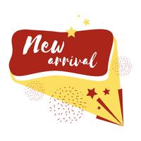 New arrival badge shopping and retail vector