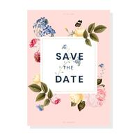Save the date wedding invitation