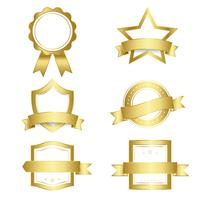 Set of badges and banners vector