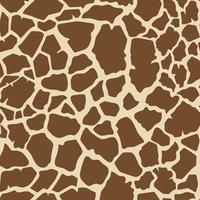 Nahtloser Giraffenhaut-Mustervektor