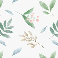 Watercolor leaves graphic pattern design