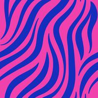Pink and blue zebra print pattern vector