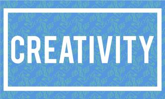 Illustration of creativity word on blue background vector