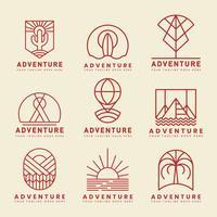 Set van avontuur logo vector