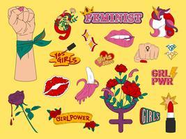 Verzameling van meisje macht vectoren