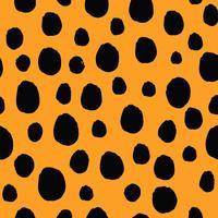 Nahtloser Mustervektor der schwarzen Punkte