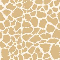 Vector de patrón de piel jirafa inconsútil