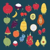 Gesunde Früchte eingestellt