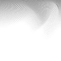 Black and white wavy halftone background vector