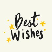 Best wishes typography vector in black