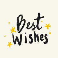 Best wishes typography vector in black