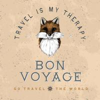 Bon voyage logo design vektor