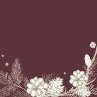 Bordure florale sur un espace vide