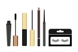 Inzameling van pictogrammen van de oogproducten van vrouwen de kosmetische
