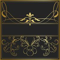 Vector de oro Vintage art nouveau insignia
