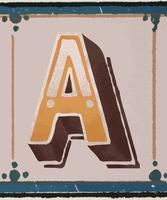 Letra maiúscula Um estilo de tipografia vintage