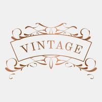 Luxurious vintage art nouveau badge vector