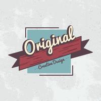 Vetor de distintivo de design criativo original