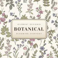 Botanical text banner
