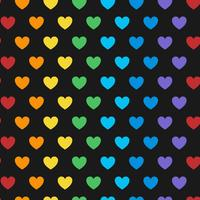 Seamless colorful heart pattern vector