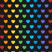 Naadloze kleurrijke hart patroon vector