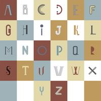 L'illustration de typographie alphabet anglais