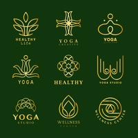 Set van yoga logo vector