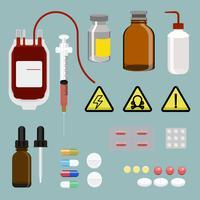 Ilustración de un conjunto de equipos médicos