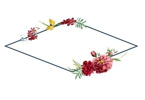 Blom- ram kort design illustration