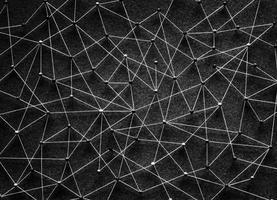 Push-pins aangesloten op een netwerk