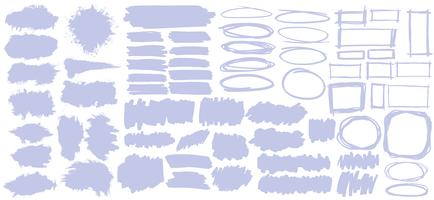 Collection of pastel purple banners illustration