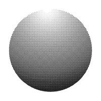 Black halftone badge on white background vector